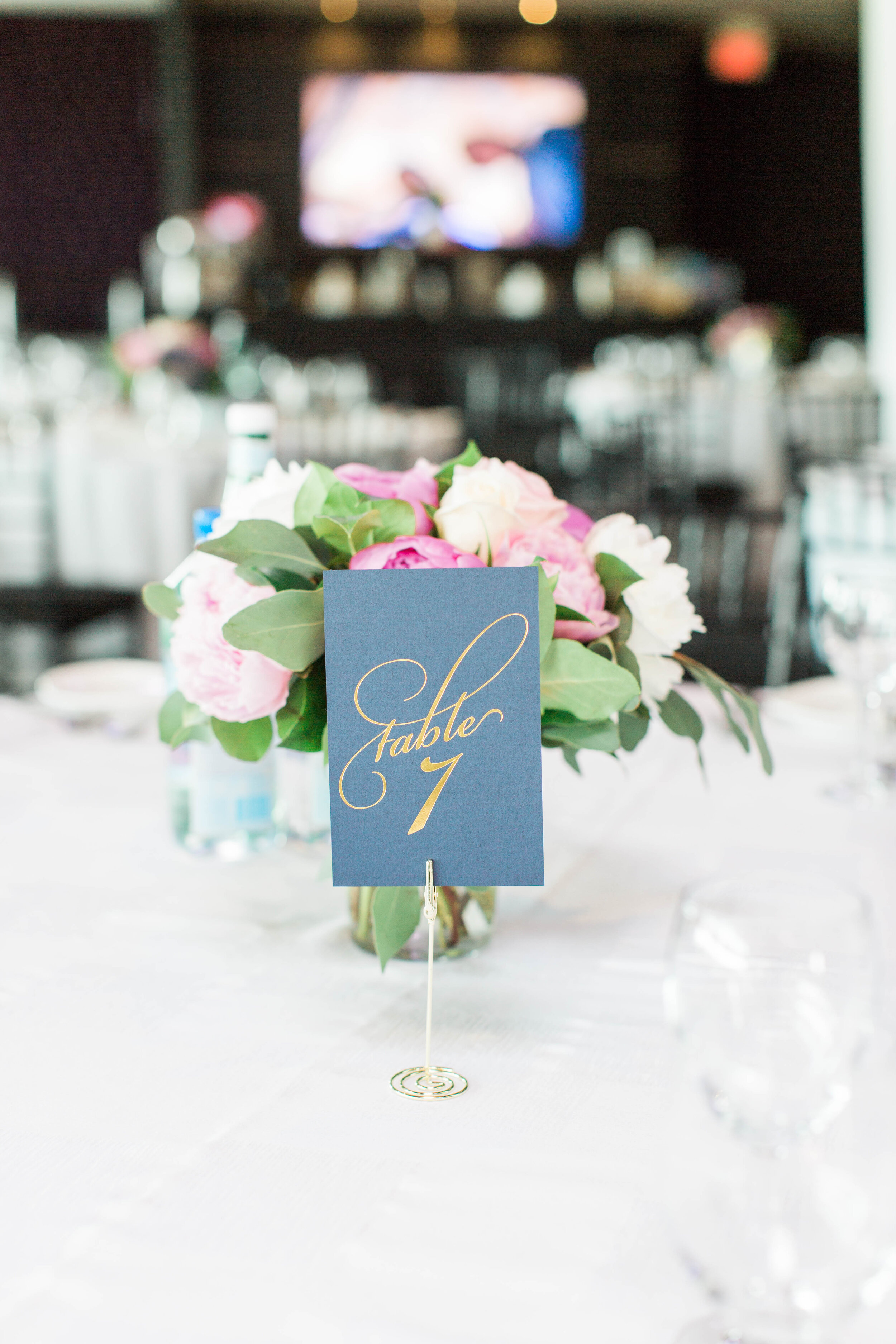 Contemporary Wedding Reception Table - Trendy Modern Brunch Wedding - Historia Wedding and Event Planning