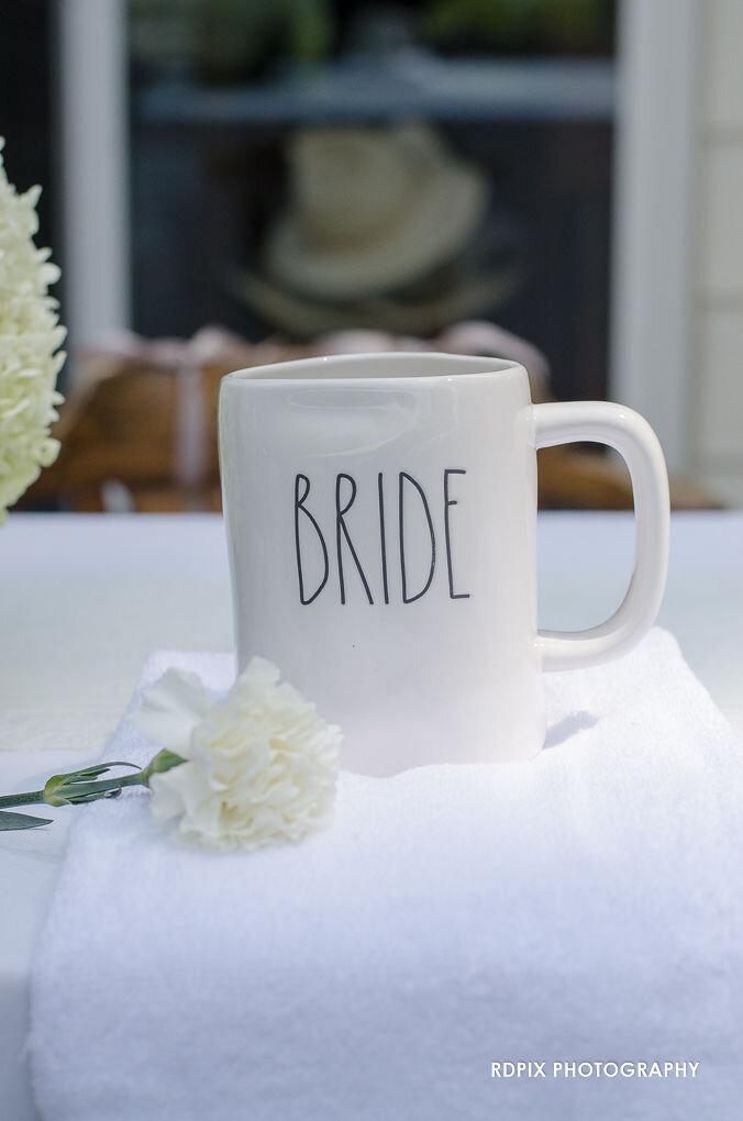 Head table bride side - DIY Fishing Themed Backyard Wedding - Historia Wedding and Event Planning