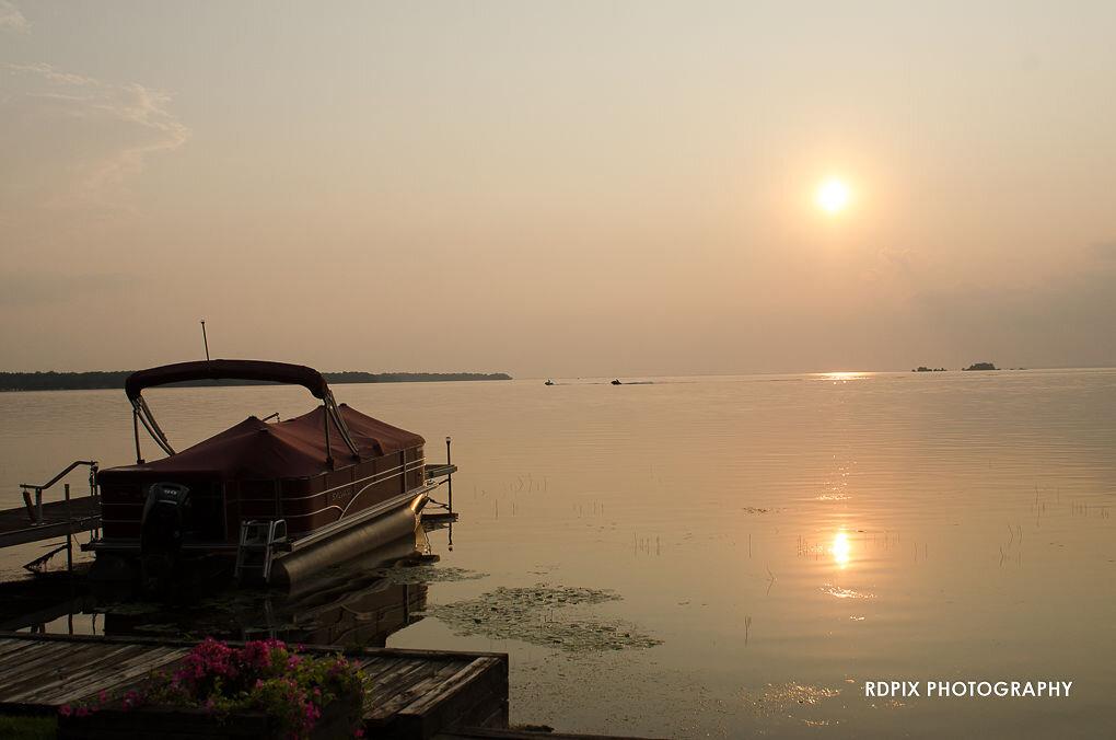 Lake sunset - DIY Fishing Themed Backyard Wedding - Historia Wedding and Event Planning