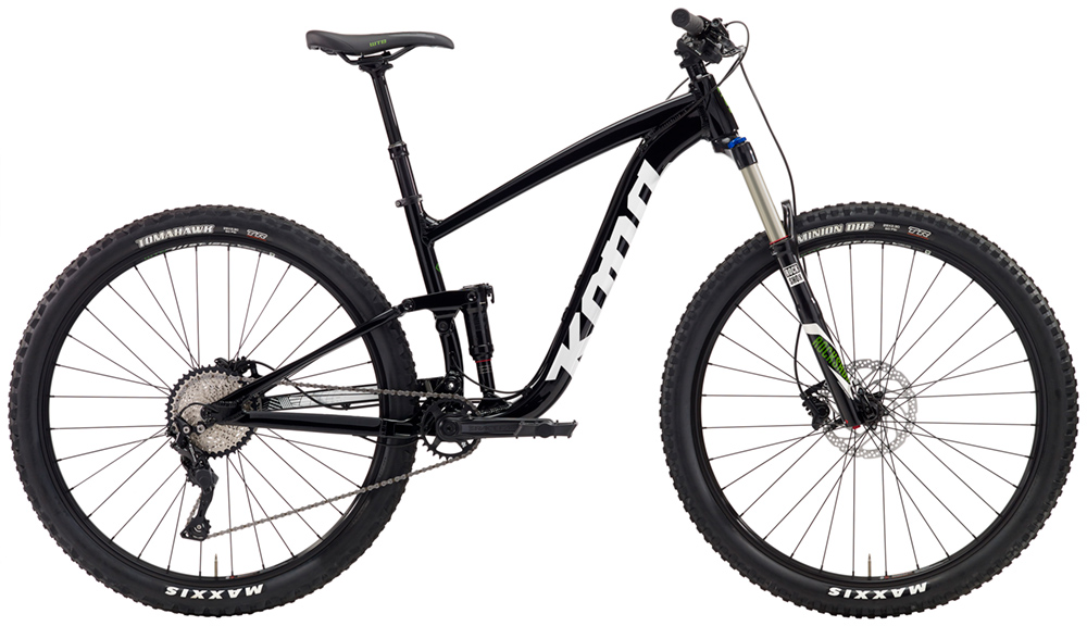 """29in Wheels with 140mm front 130mm rear travel. The Satori is a longer-travel cross country bike it's 29"""" wheels keep the Satori rolling fast over obstacles"""