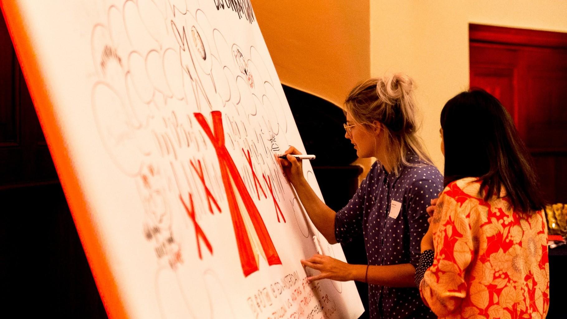Visual notes event visualizing TEDx illustrator