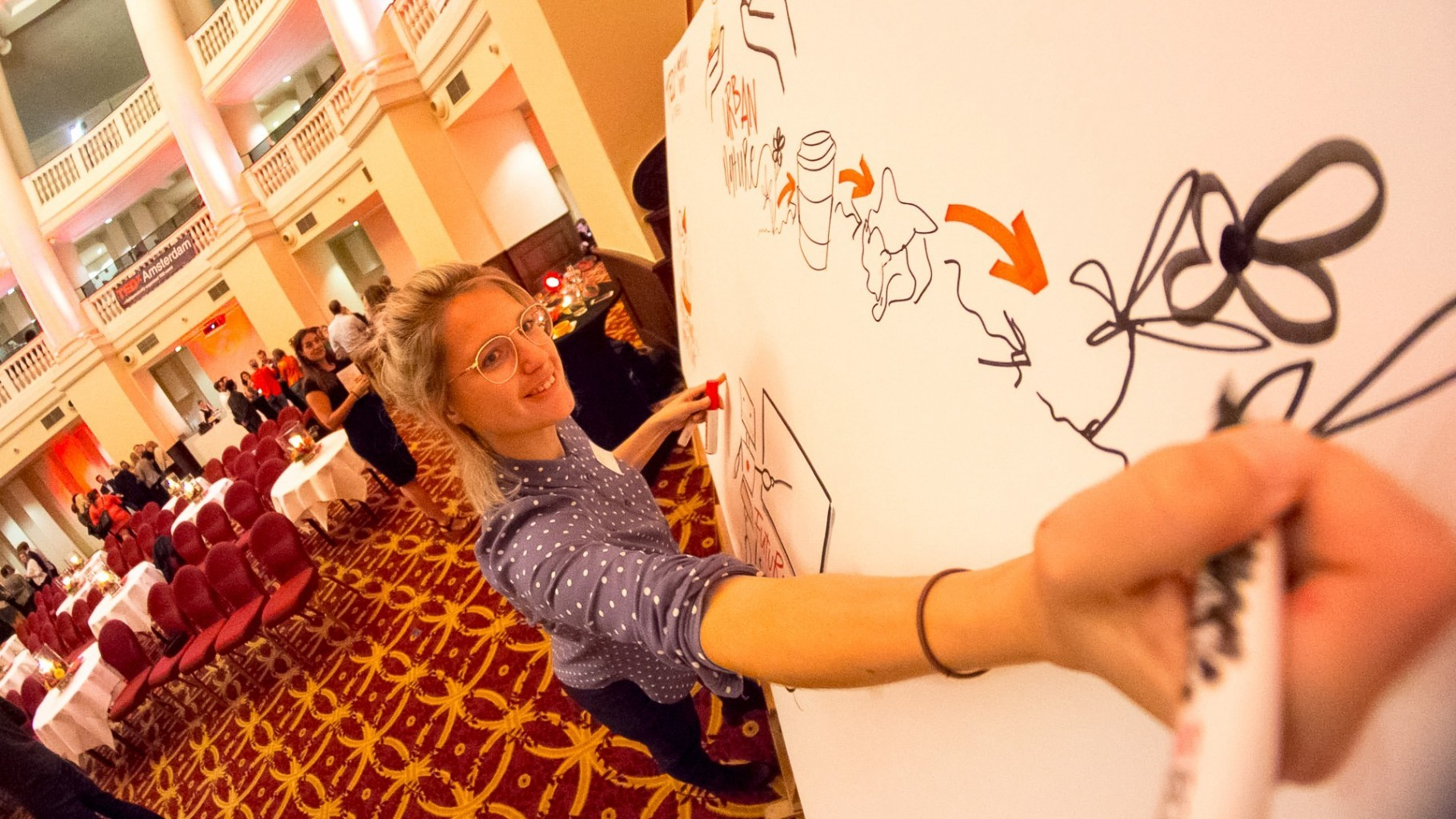 illustrator event visualizing visual notes tedx