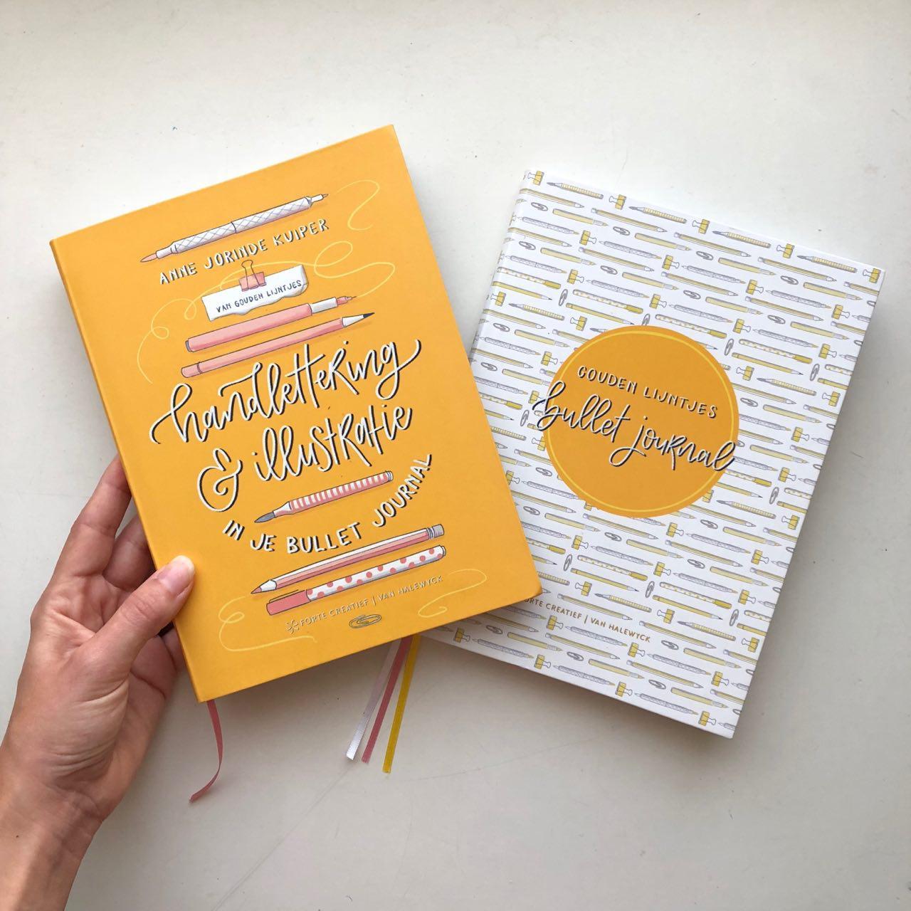Gouden Lijntjes boek handlettering illustratie bullet journal