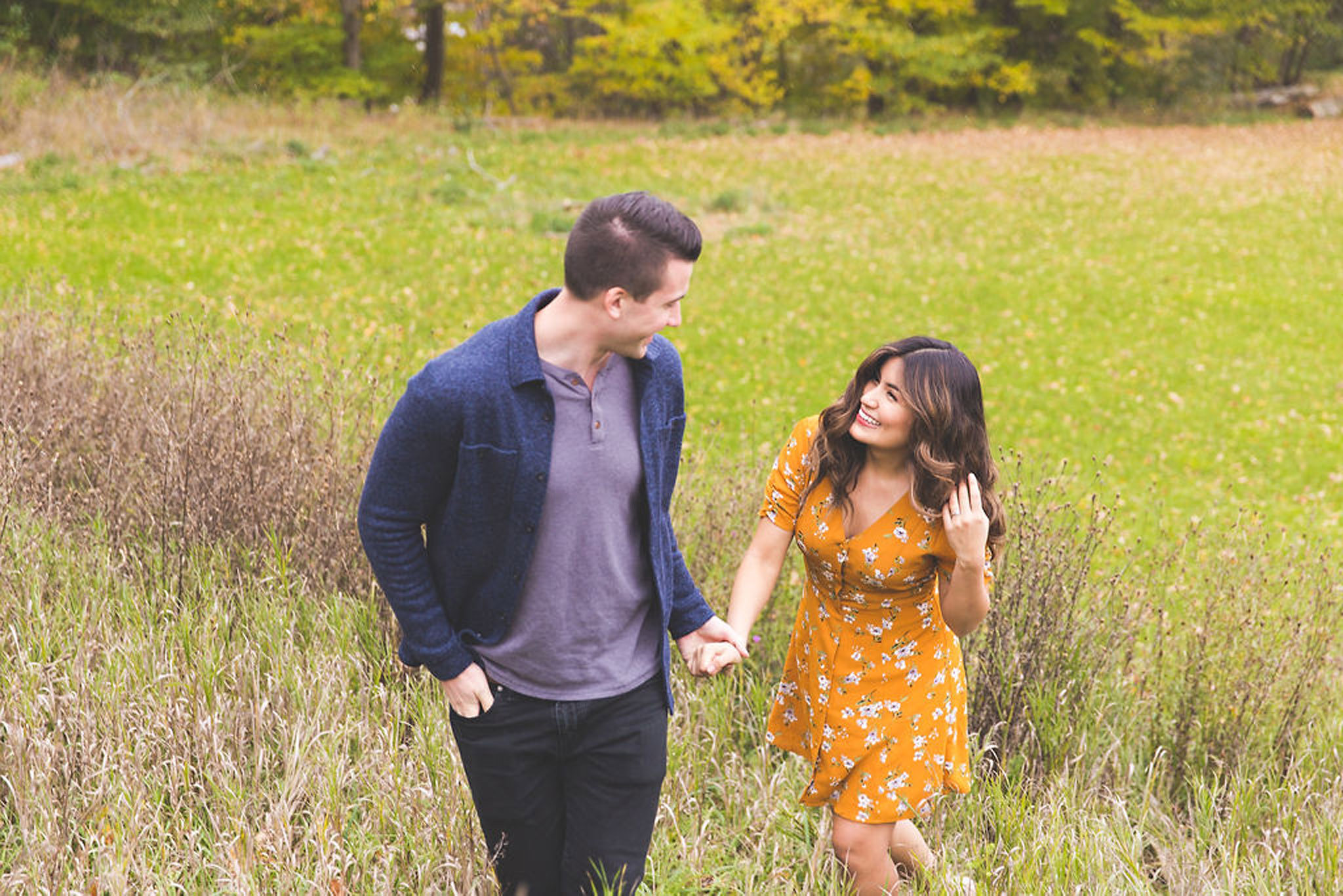 Spring flurries engagement session in Owen Sound