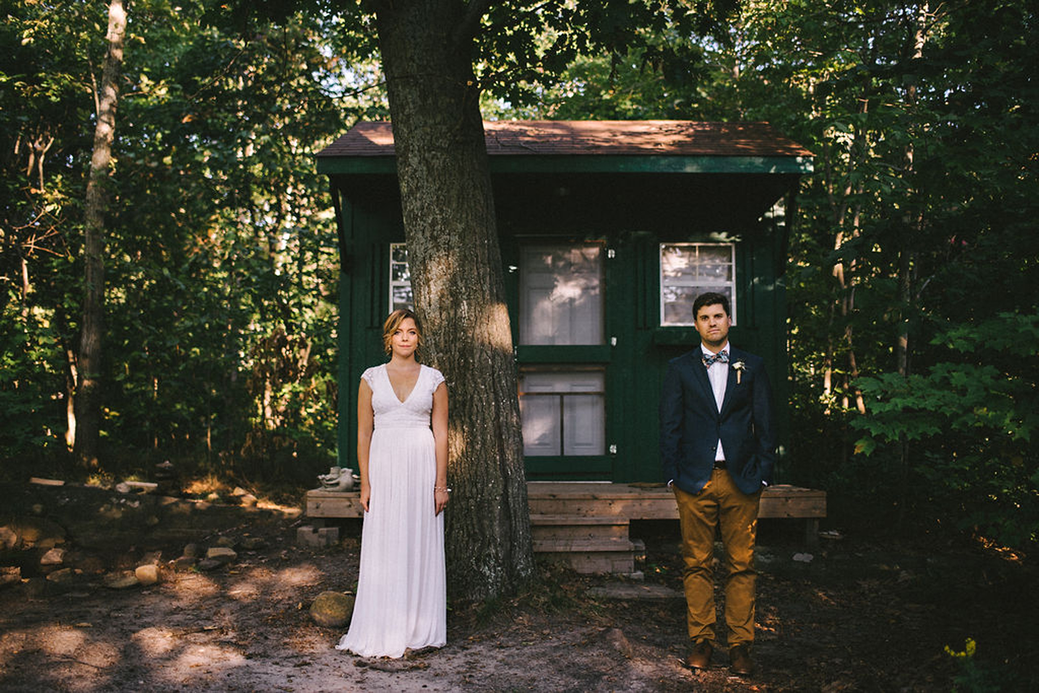 Laid back camp wedding in Parry Sound