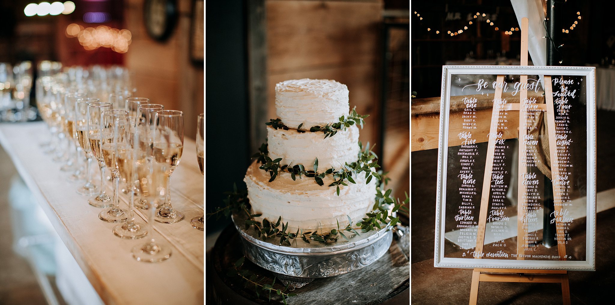 autumn wedding decor at cozy meaford barn wedding