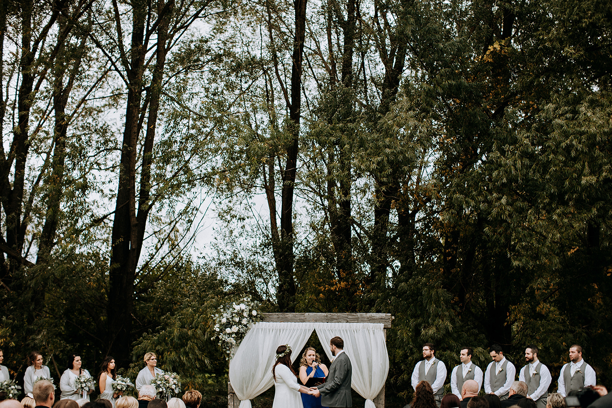outdoor boho wedding ceremony in meaford