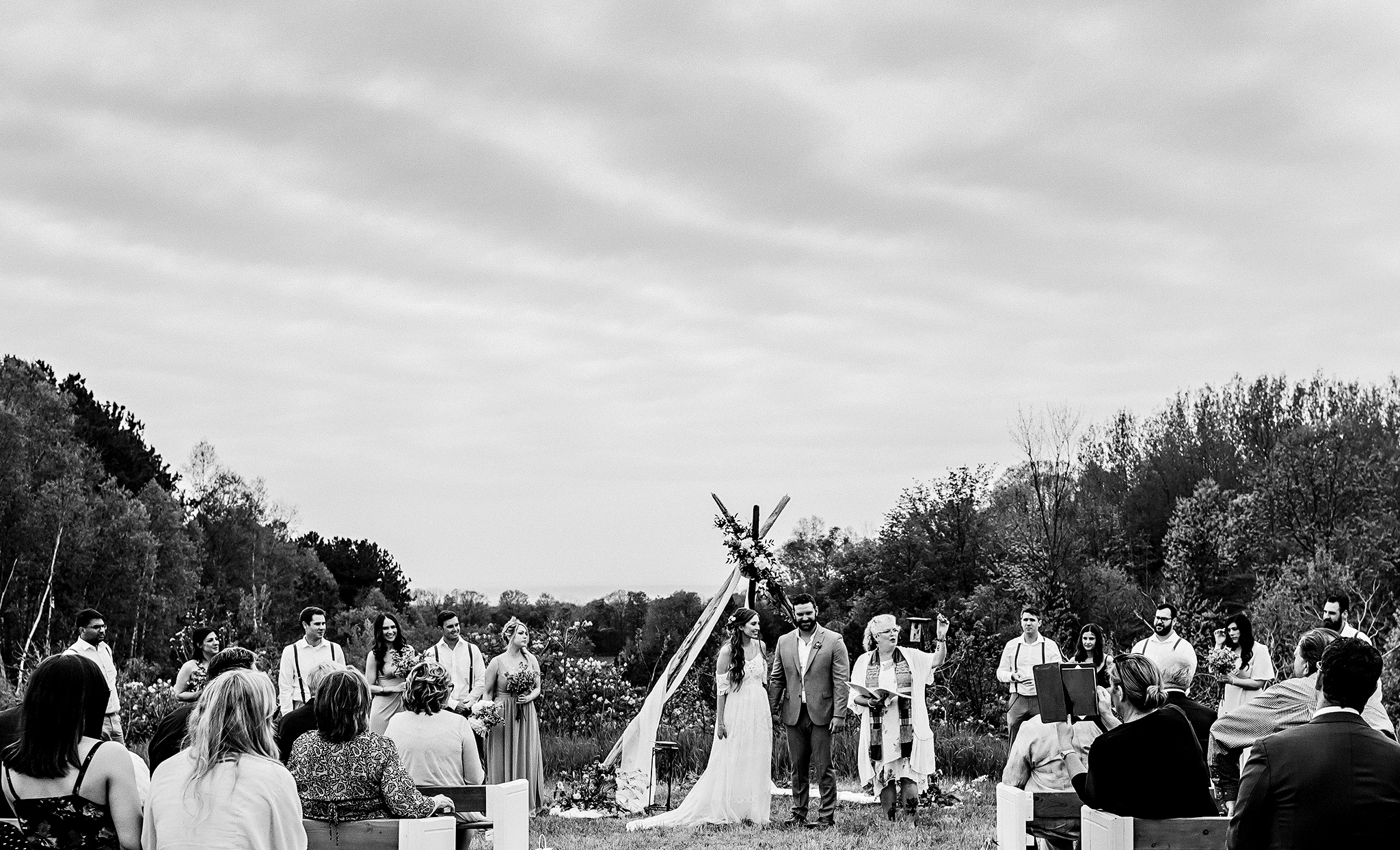 Intimate Boho Celtic Roots Equestrian Farm Wedding