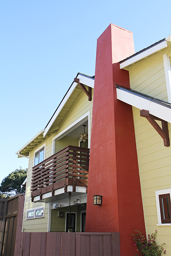 Green building smart designed exterior