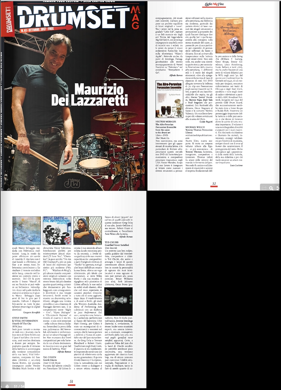 Drumset Mag (Italy) - October 2017