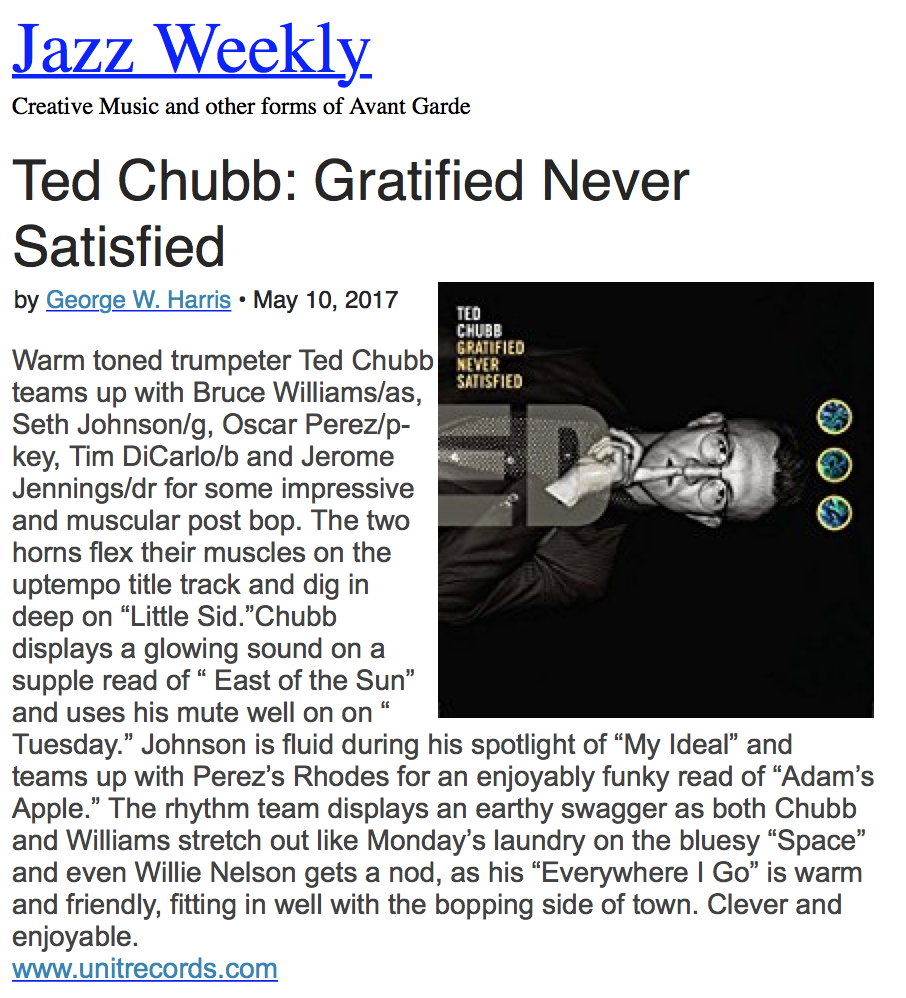 Jazz Weekly - May 10th 2017