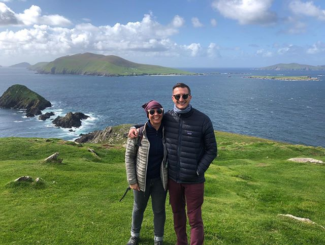 The newest adventure with @itsaryllthing is in the books. Ireland 🇮🇪 you did not disappoint!  #couplesthattraveltogetherstaytogether #Ireland #sleahead #dinglepeninsula