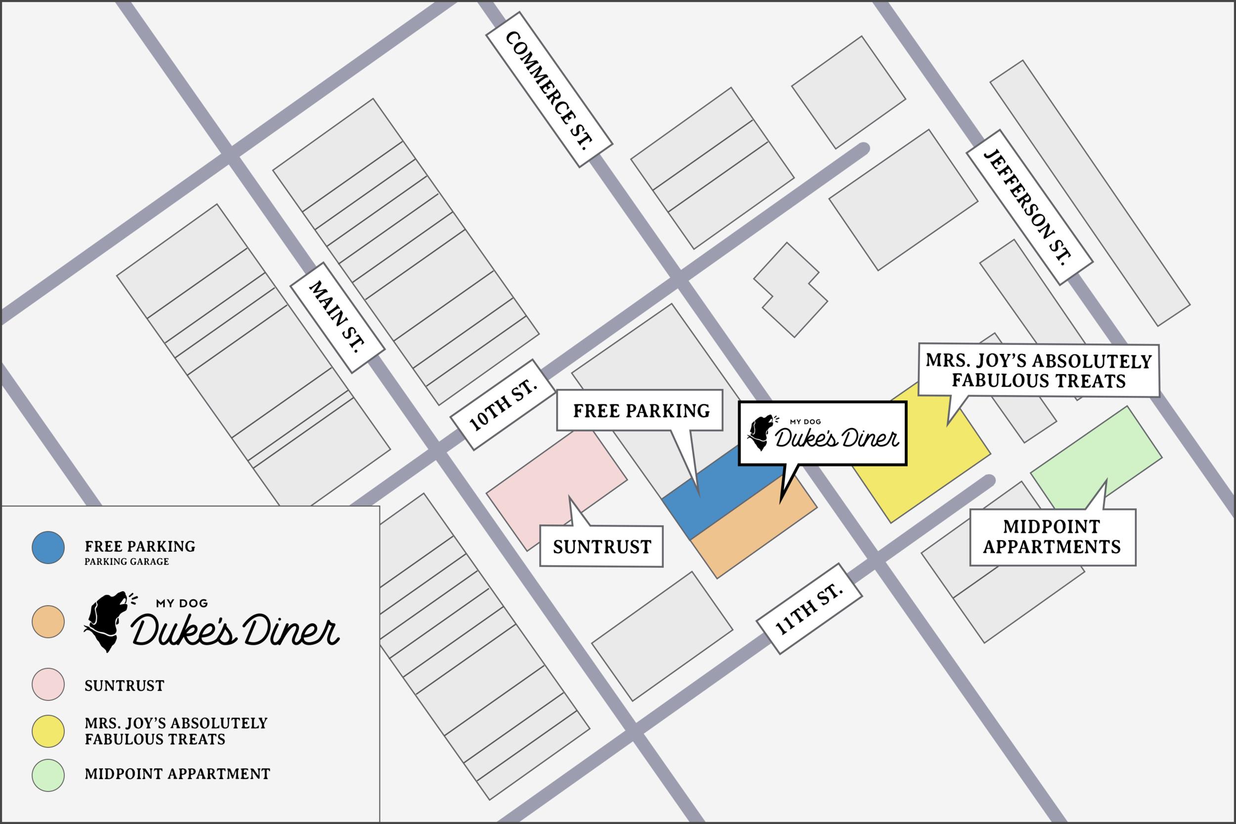 Duke's Diner Parking Map.png