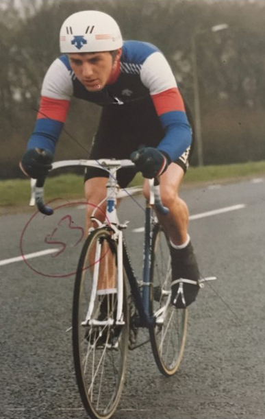 Ian time trialing back in the 1980's