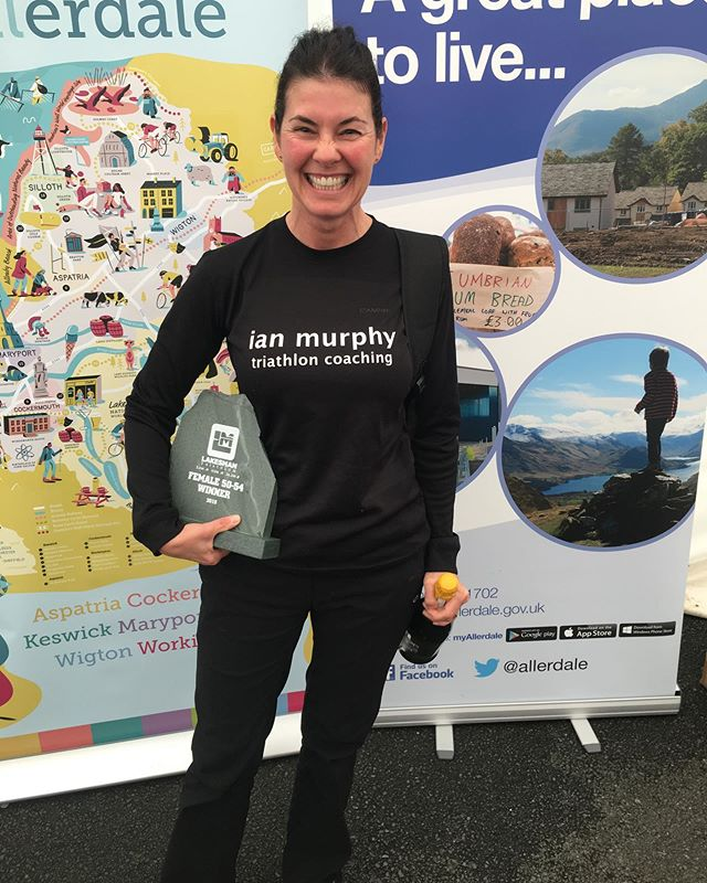 WE HAVE A WINNER! Huge congratulations to IMTC athlete Shirley Hunt who yesterday won her V50-54 age category at The Lakesman full triathlon. Not only this, Shirley finished 10th female in the whole race.👏👏Well done Shirls, your hard work and commitment to training is inspirational and you got the result you deserved.  Congratulations also to Claire Platt, who complete The Lakesman, her first Ironman full distance triathlon in a very impressive 13.46.25, and made the marathon run look easy! Congratulations also to Lee Ogden who improved his race time by 38 mins compared to last year, to set a new course PB of 13.35.41. Finally, a special mention must go to Mark Maclagan, who despite a sickness bug, still raced and completed the full distance in 15.15.30. This was a true test of mental strength and determination. Well done to all athletes that competed, whether you were a beginner or podium finisher,it was a pleasure to cheer you on. #lakesman2019 #lakesmanhalf2019 #ironmandistance #swimbikerun #triathlon #triathlons #triathlonwinner #trainingplan #triathloncoaching #imtc #imtcoaching