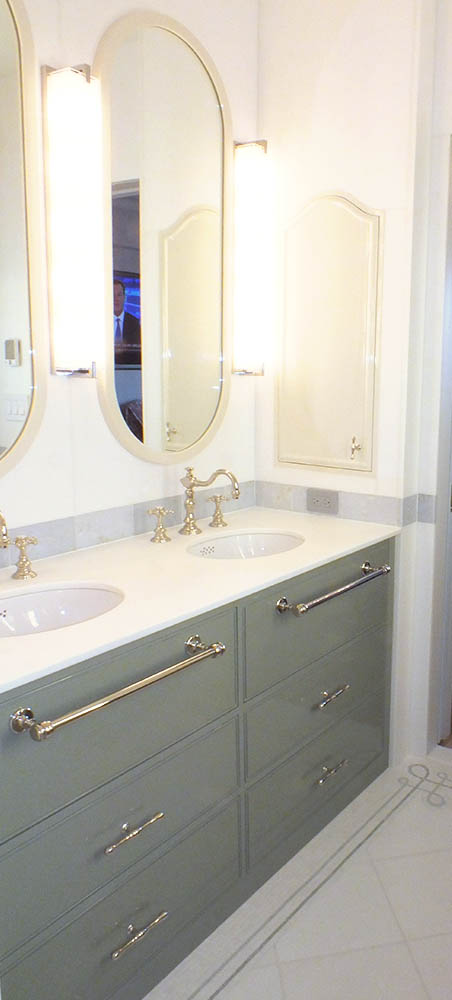 Custom Built In Double Sink Vanity