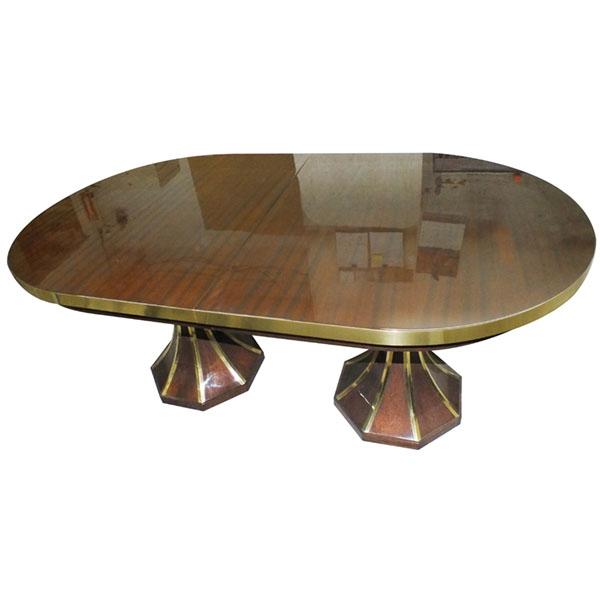 Brass Rim on Top and Brass stripes on base