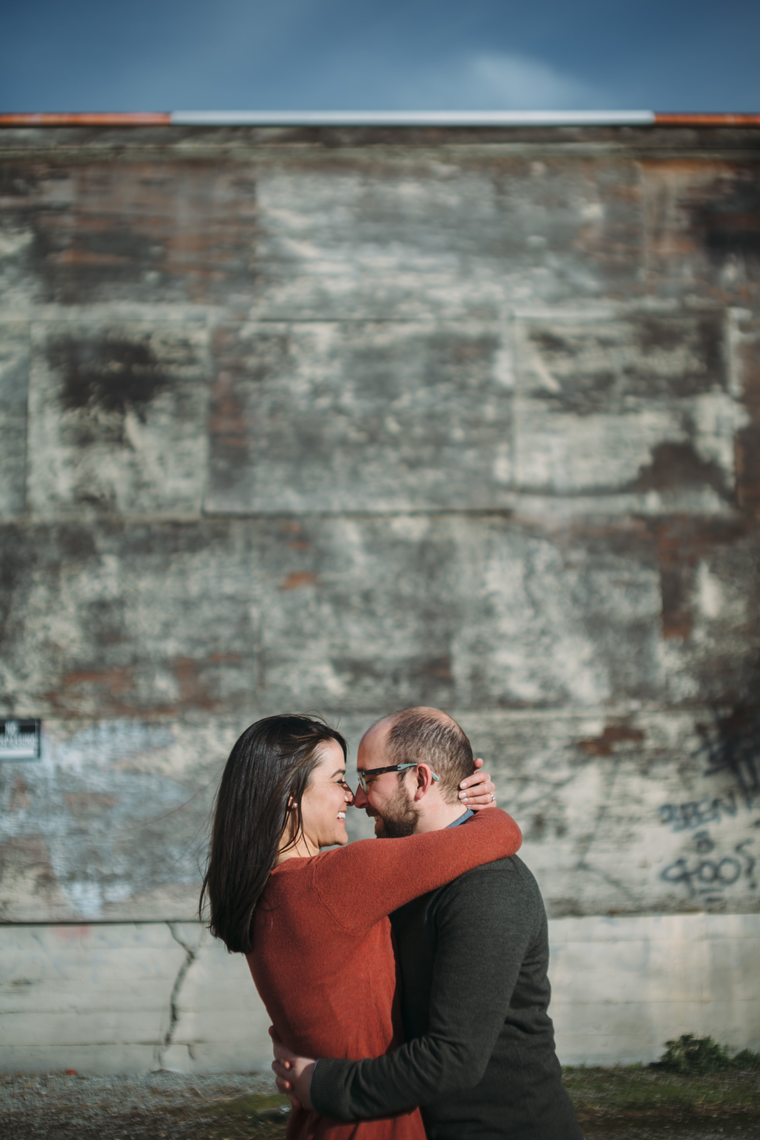 Erica & Nate  - This couple I hold near and dear to my heart. Not only have I known Erica since she was 3, but she has found a love that keeps her giggling, happy and cared for. They are getting married this Summer and I think we both were equally excited to shoot with each other. She has been a huge supporter in my life and spending the day with them was not work. It was fun. And watching them interact in front of the camera was like seeing another glimpse into their love. They LAUGH. A LOT. Their energy is already on the same wave length and their smiles are infectious. Ah it was such a good day.