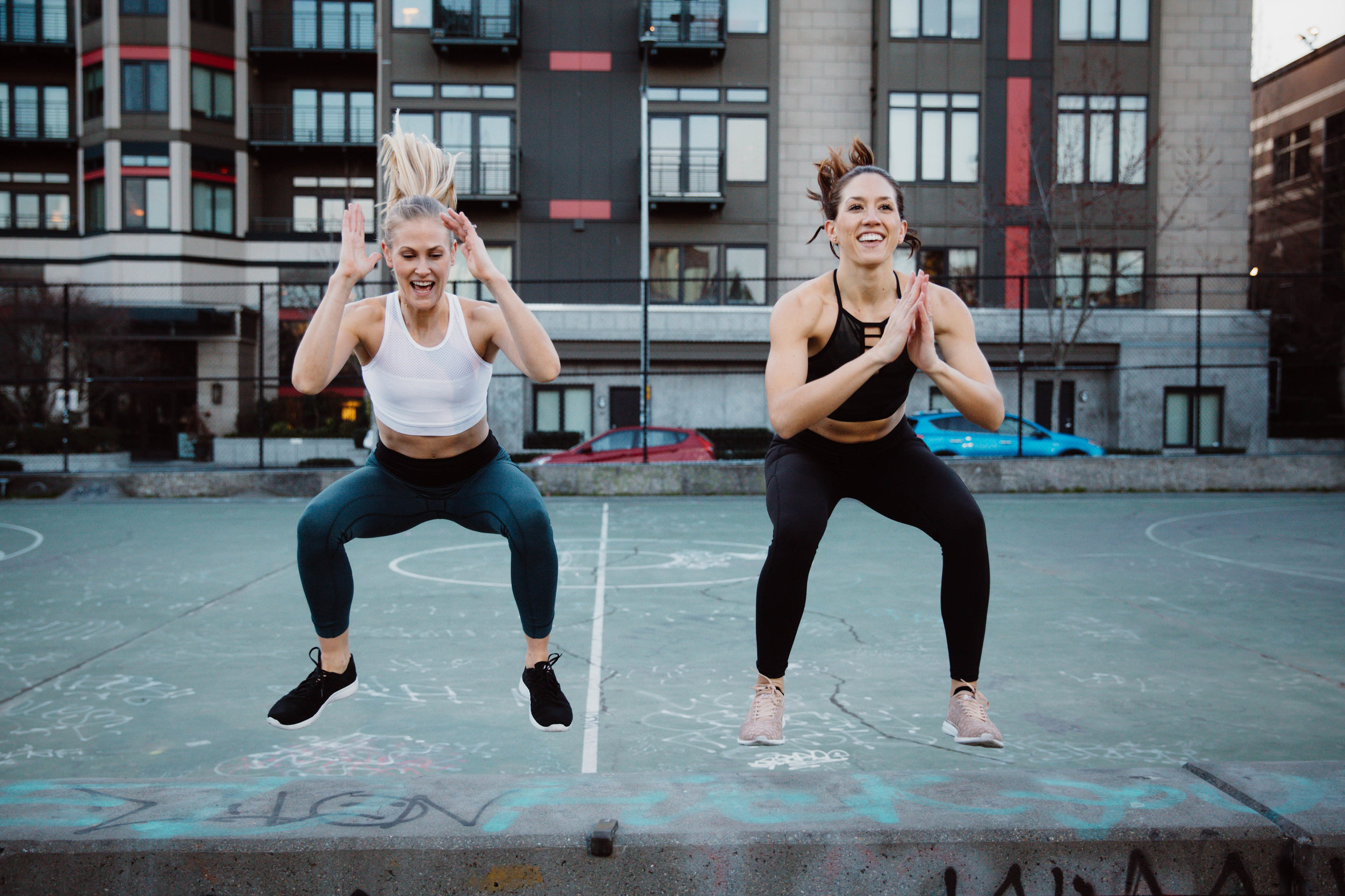 Ives and Christina  - These girls know what does a body good. I loved this shoot because of the energy and chemistry they have together, and the common passion they share. Fitness. I was an athlete my entire life until the last few years. It's not that I don't work out anymore, it's just after multiple surgeries I just ain't what I once was. Y'all feel me? Back in the day (I'm talking like I'm 80) my favorite thing was to work out with people. Running buddies were my absolute favorite. Not only did they keep me accountable, but those people ended up being my best friends at the time. It's amazing how much life you share when you're running 15 miles a week together. I can tell Christina and Ives are the same. They push each other, they laugh a ton and their perfect bodies are a result of their incredible dedication to fitness. I'm not jealous at all.