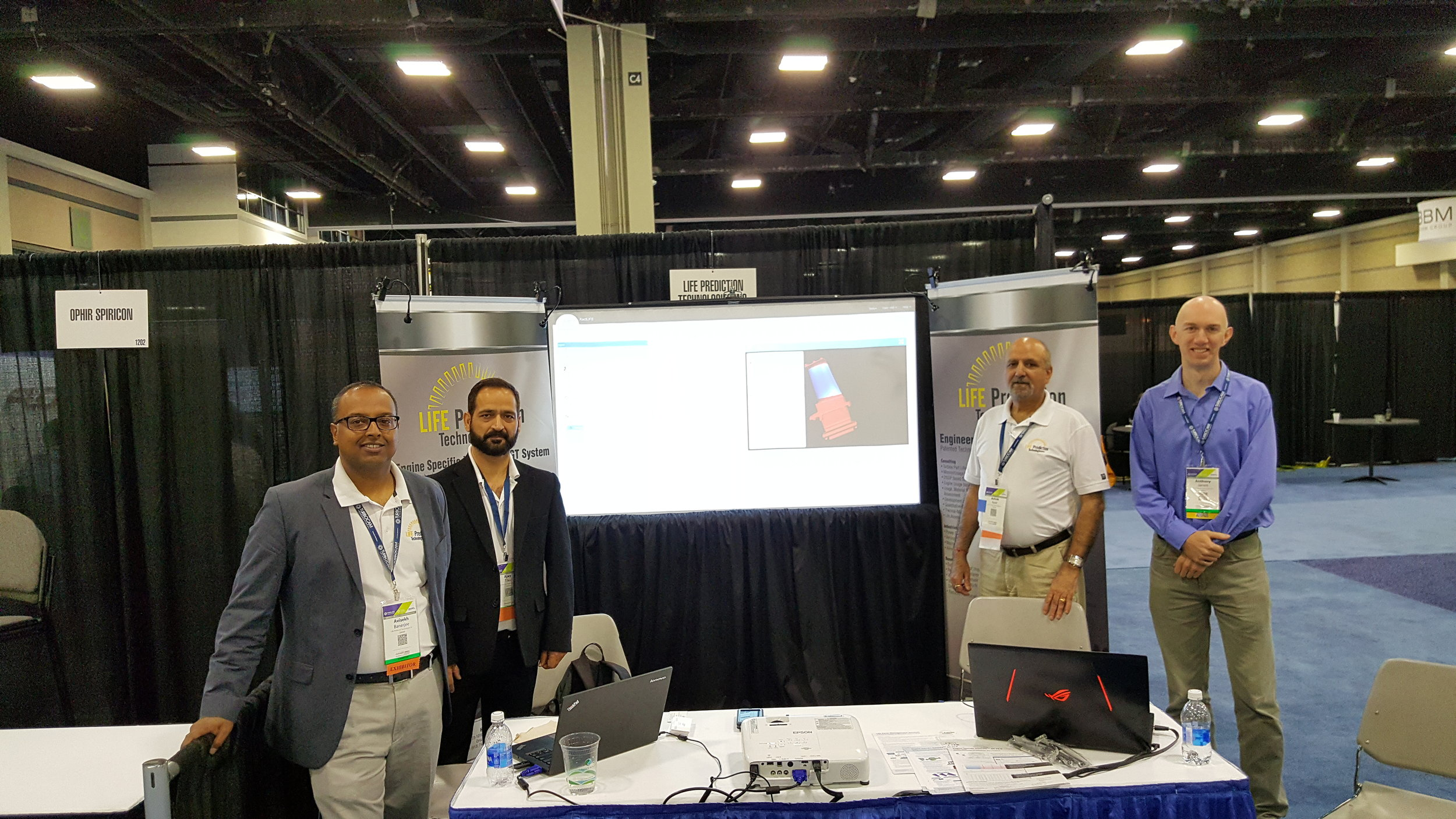 Avi Banerjee, Ajay Tiku, Ashok Koul and Tony Jarrett (Left to Right) @ Turbo Expo 2017, Charlotte, NC