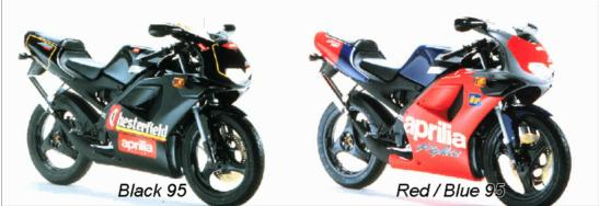 These were the color options for 1995, notice the Chesterfield livery (cigarettes) on a bike intended for 14 year olds!