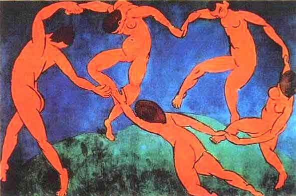 Henri Matisse (1910)   Dance.  Oil on canvas. The Hermitage, St. Petersburg