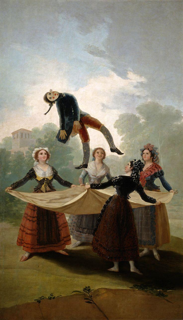 Francisco Goya (1791-92)   El pelele (The Straw Manikin)  Oil on canvas Museo del Prado, Madrid