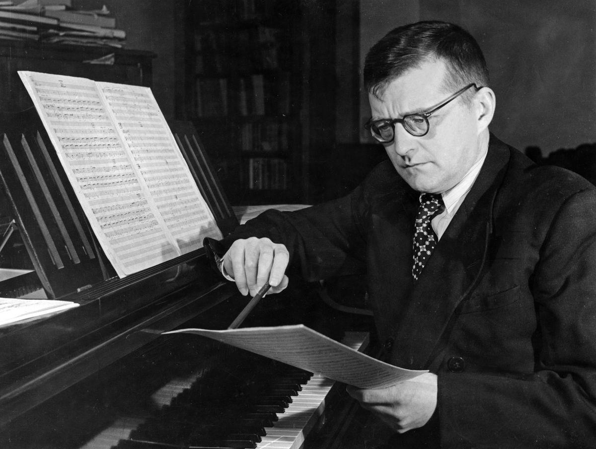 Dmitri Shostakovich in 1950.  Photo: Sovfoto / UIG via Getty