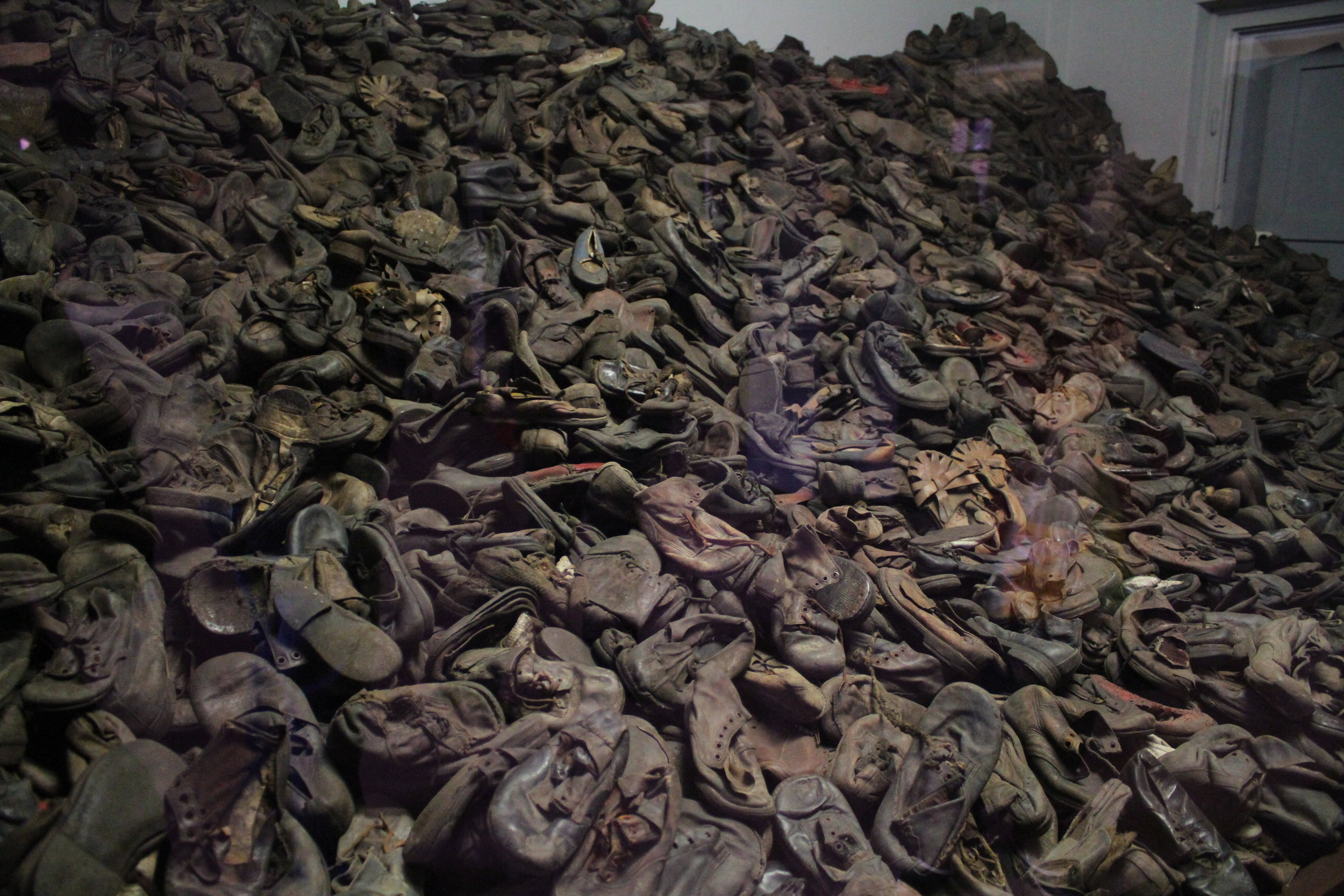 Shoes from people murdered at Auschwitz.