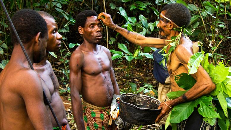 Baka hunters.  Photo: Exploring Tourism, Cameroon.