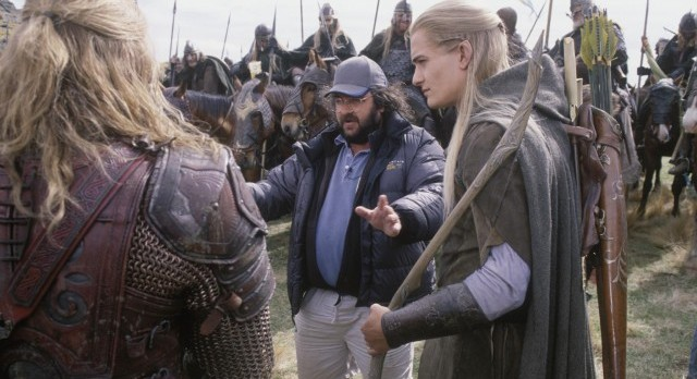 Director Peter Jackson on the set of  Lord of the Rings.     Photo: MGM