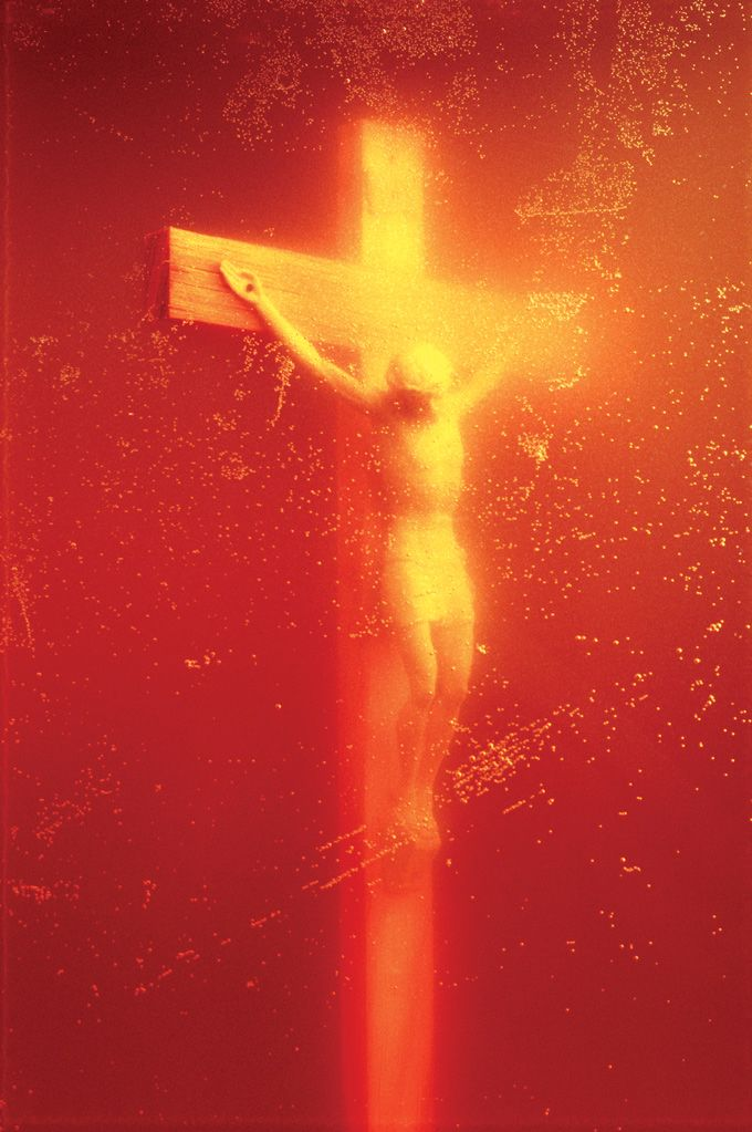 Andres Serrano (1987) Immersion (Piss Christ). Photograph.