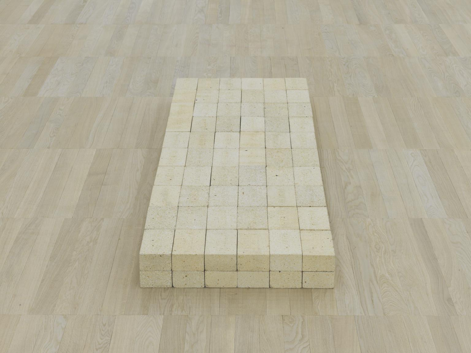 Carl Andre (1966) Equivalent VIII. 120 industrial fire bricks.
