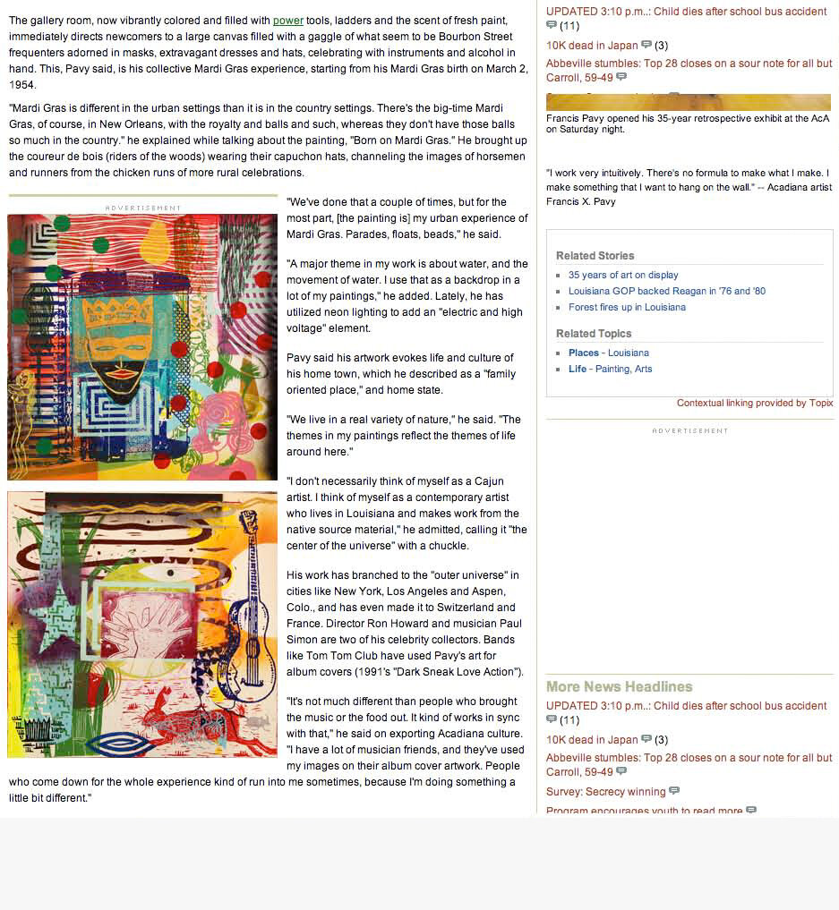 Articles And Reviews Pavy Com
