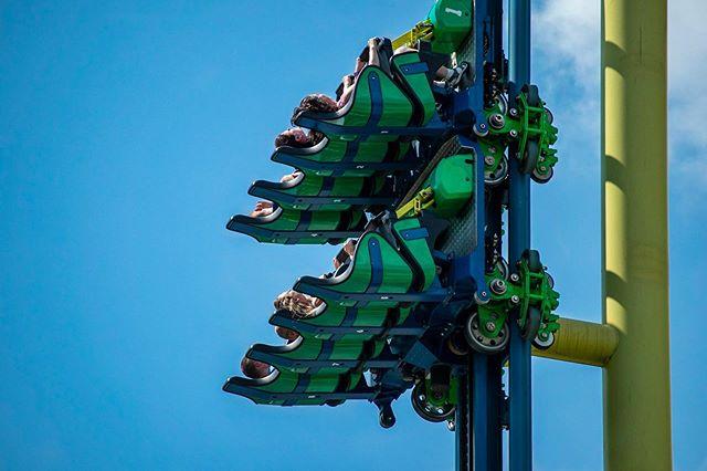 Lift off🎢  #knoebels #impulse #rollercoaster #liftoff #fear #nothanks