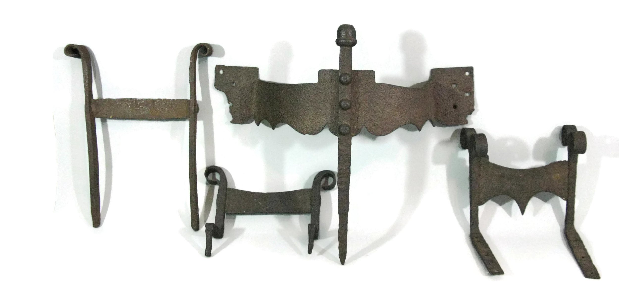 Four 18th Century Iron Boot Scrapers