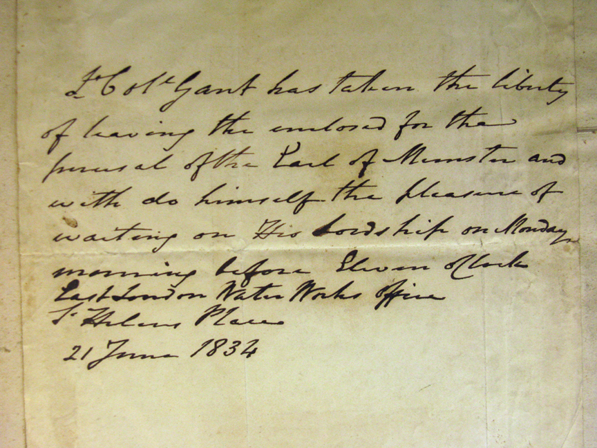 Hand written note within Pennant's View of Hindoostan. The mystery remains, who wrote this note?
