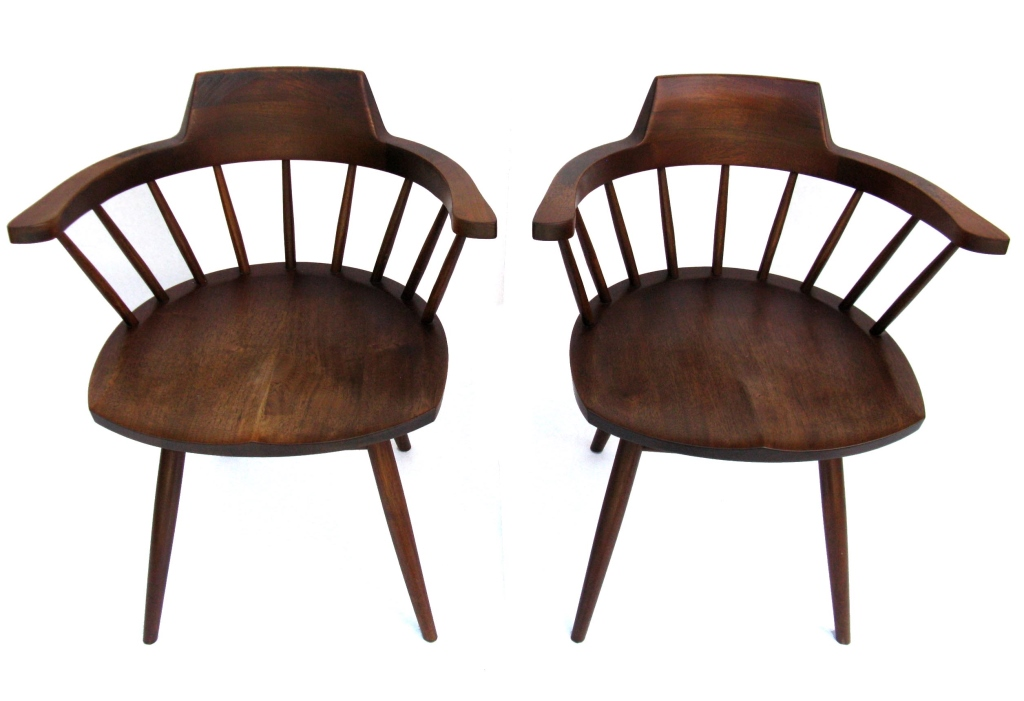 Captain's Chairs - A matched pair with exacting details