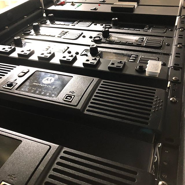 Sunday's are for racking. #racks #customers #CTI #Motorola #CapPlus #systems #inbuilding #onevoice