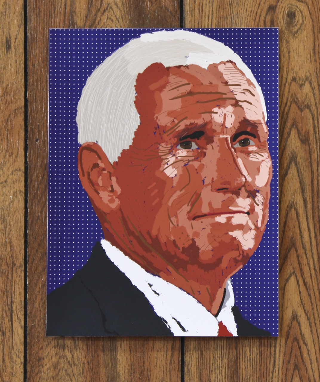 "Mack McFarland, ""M. Pence"" digital print, 2018"