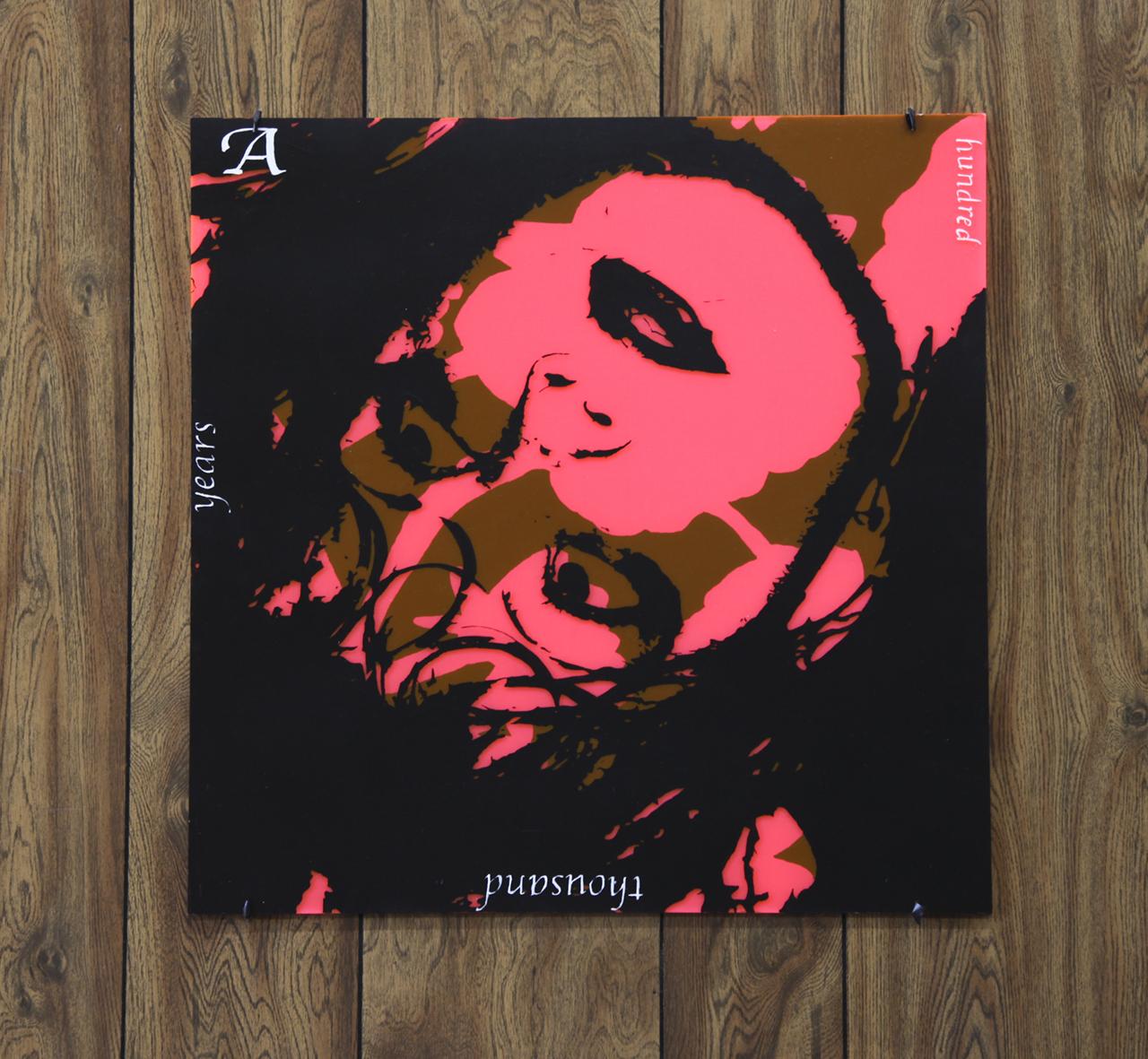 """Thomas J Gamble """"A Hundred Thousand Years,"""" 24 x 24"""", Cel-Vinyl on Plexiglass, 2018."""