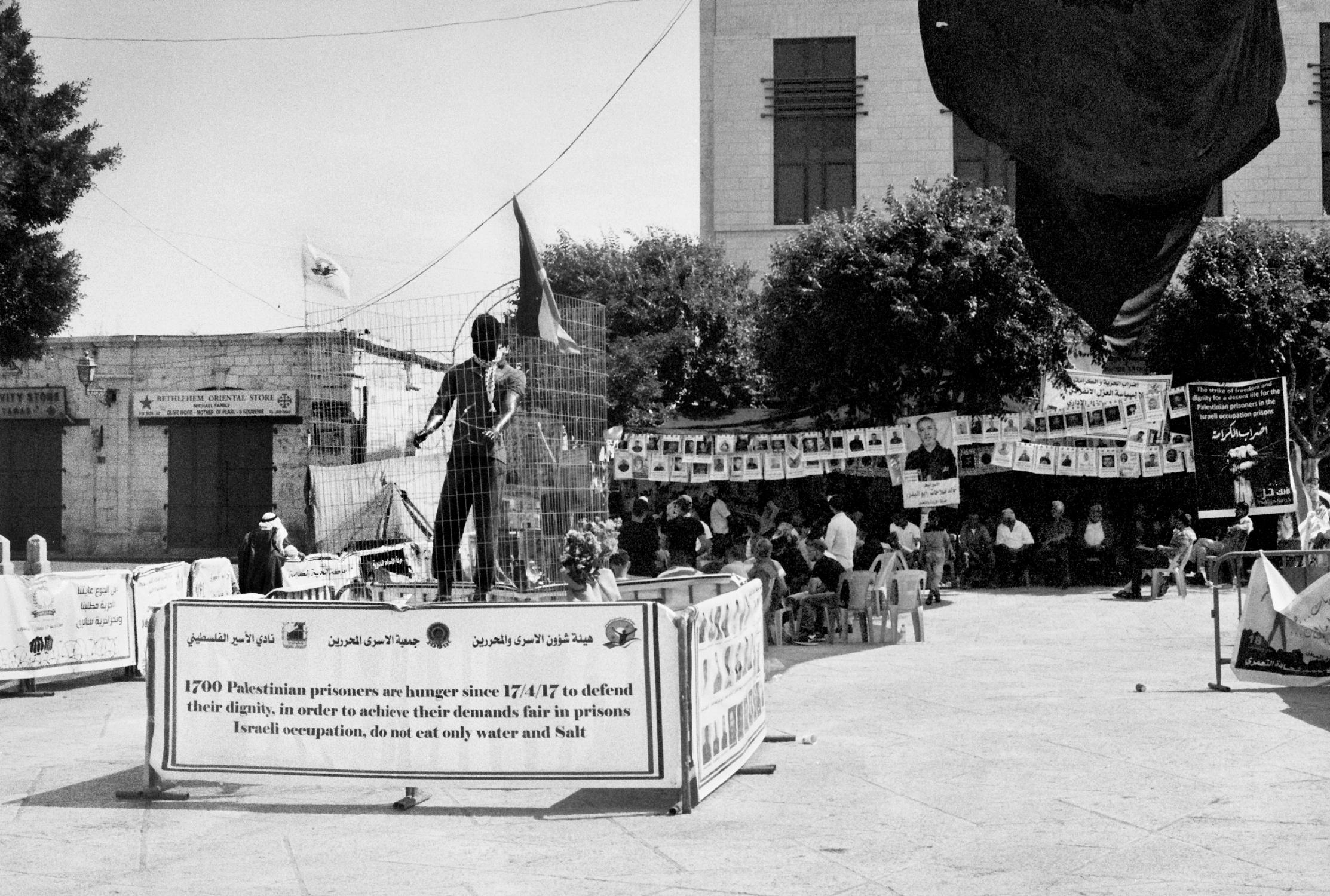Hunger Strike Demonstration, Bethlehem, 2017