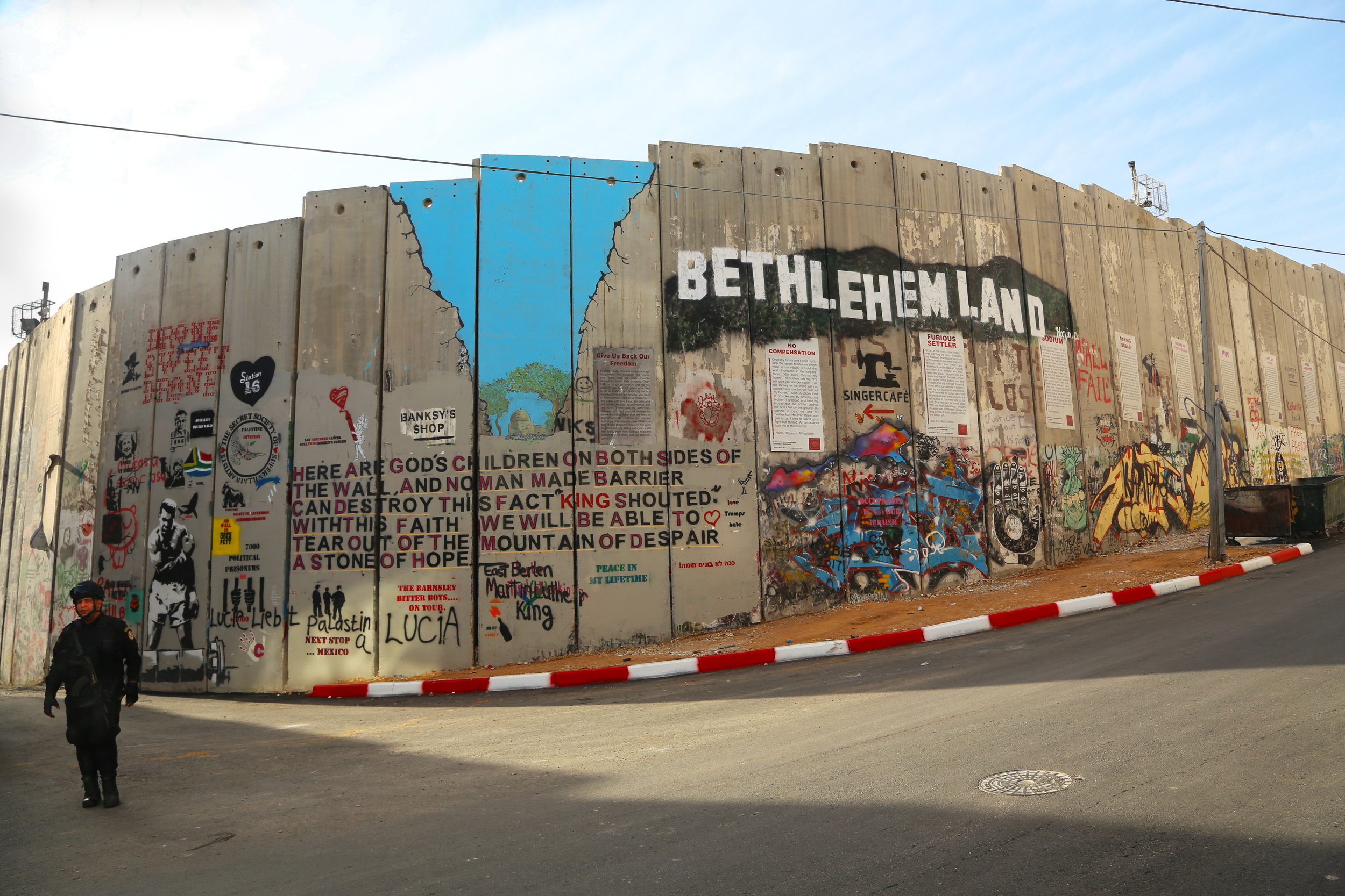 Separation Wall, Bethlehem, 2017