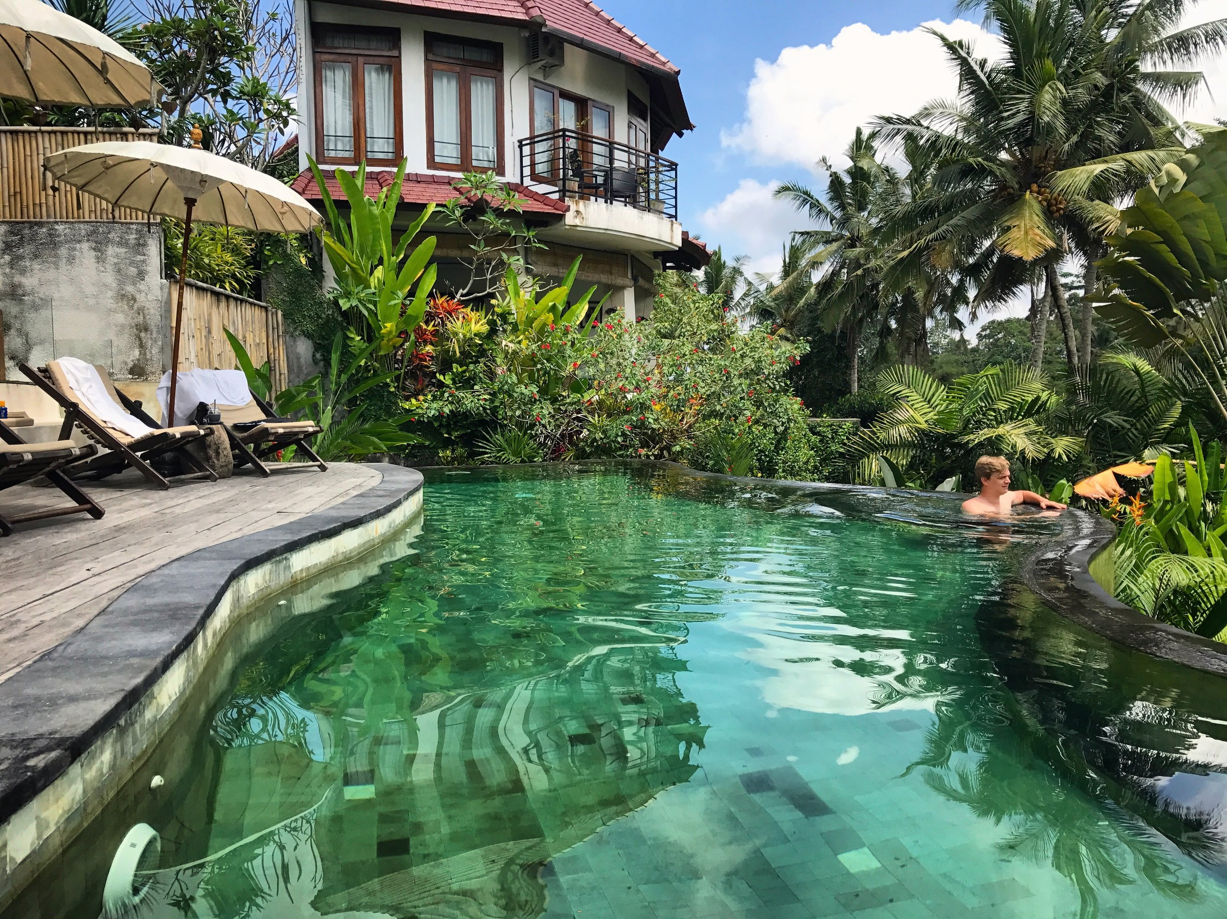 Enjoying the pool at Calma Ubud