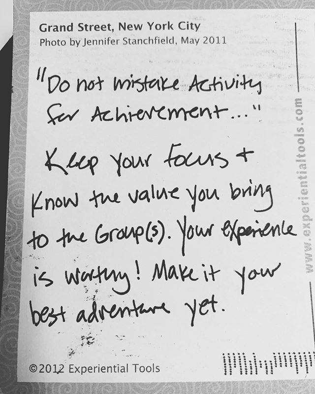 Wrote this postcard to myself at my first AEE conference last year and it showed up in my mailbox this weekend. The timing was impeccable - I needed this. Thanks, Jen, for this reminder! @experiential_tools — #experientialeducation