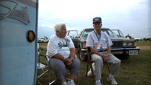 Merle and Betty by their trailer at the 2009 EAA AirVenture air show in Oshkosh, Wisconsin.