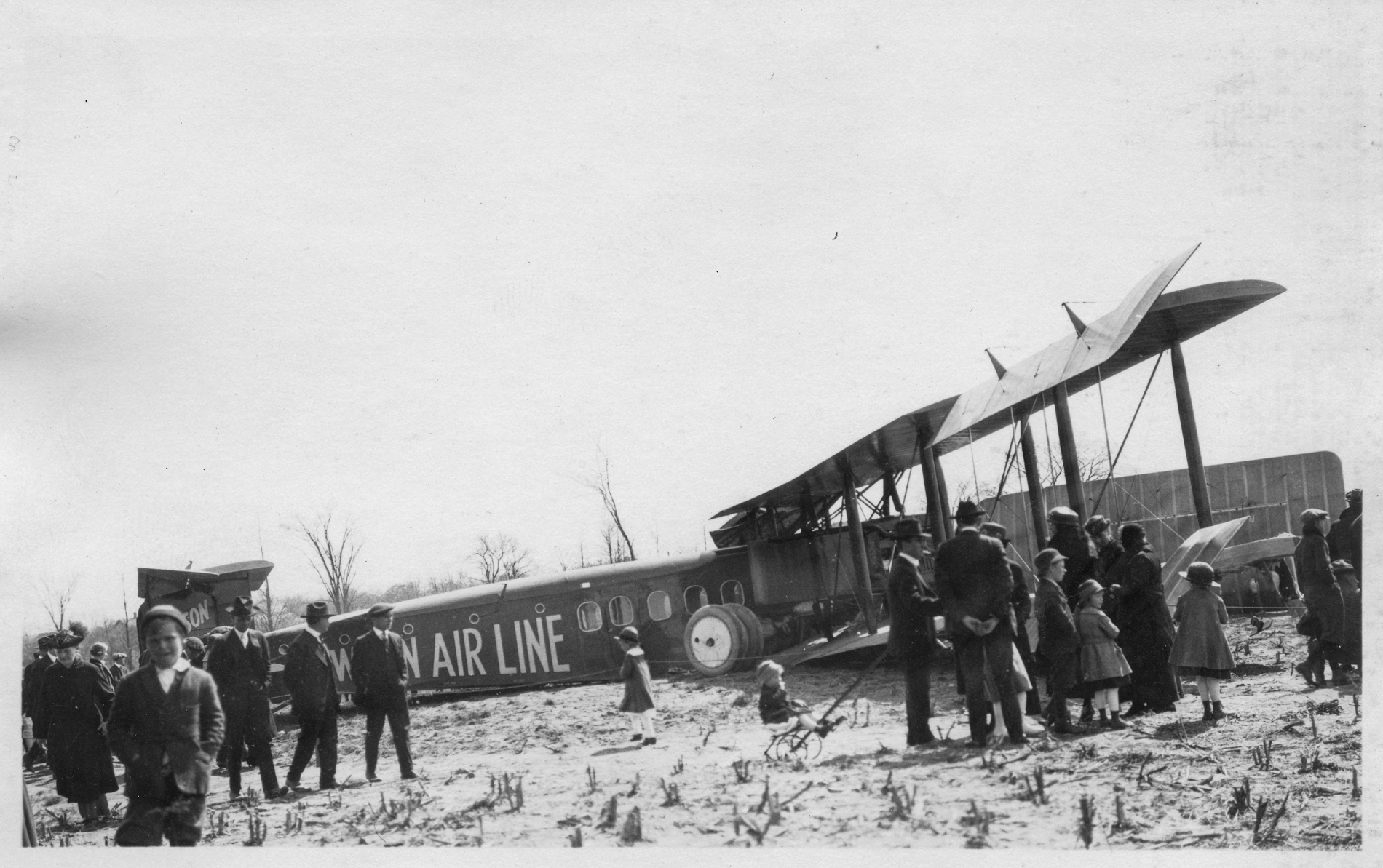 Lawson's second airliner (aka the Lawson Midnight Liner)crashed in a field near Milwaukee, Wisconsin, May 9th, 1921.