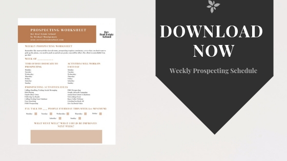 Weekly Prospecting Schedule Template
