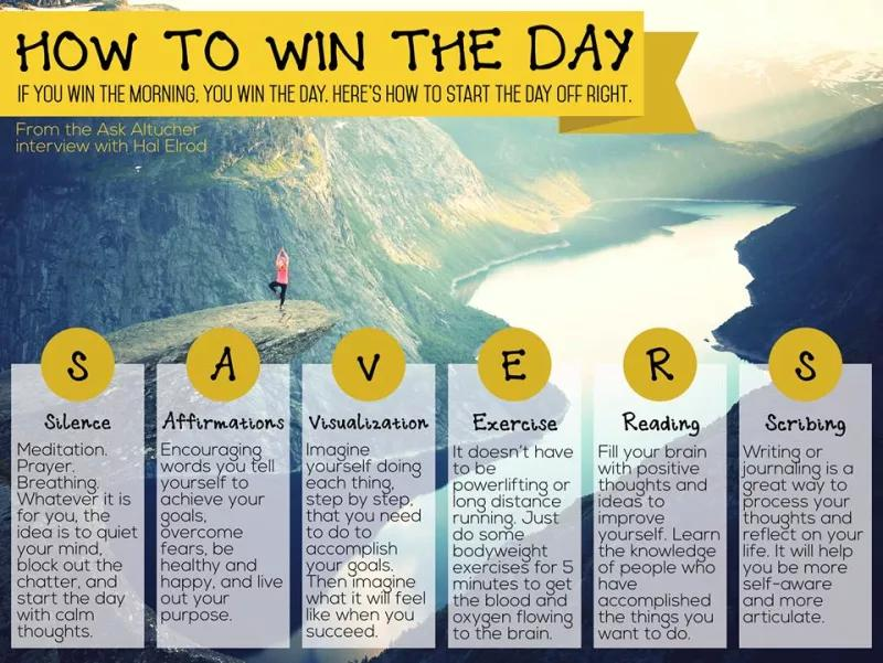 SAVERS Morning Routine - Credit  LifeHacker.com