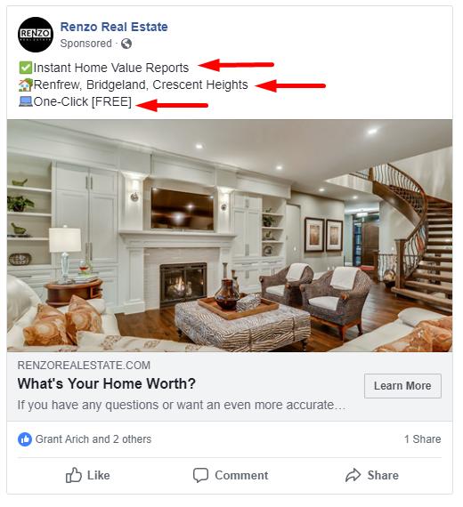 Seller Lead Ad Facebook Example